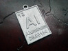 Aluminum Periodic Table Pendant 3d printed The new Raw Aluminum Material.
