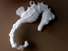 Wiggling Seahorse 3d printed White strong and flexible print.