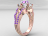 JNNF -  Engagement Ring 3D Printed Wax. 3d printed