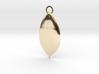 Elegant Leaf Pendant 3d printed