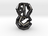 Stacked Dodecahedra Pendant 3d printed