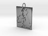 United Kingdom Silhouette Pendant  3d printed