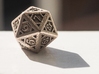 Icosahedron D20 3d printed Printed in stainless steel.