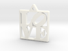 LOVE Pendant ROBERT INDIANA (Thicker Version) 3d printed