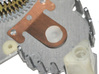 Sunbeam Electric Clock Front Motor Bushing 3d printed New front motor bearing installed in front plate