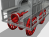 "HO ""Lawrence"" 4-4-0 Freight Locomotive 3d printed"