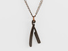 Straight Razor Necklace 3d printed Straight Razor Necklace - Antique Bronze