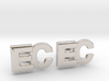 Monogram Cufflinks EC 3d printed