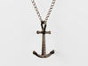 Anchor Necklace - Authentic 3d printed Headstopper Crossbar Anchor Necklace - Antique Bronze