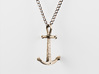 Anchor Necklace - Authentic 3d printed Headstopper Crossbar Anchor Necklace - Stainless Steel