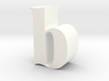 Lowercase B 3d printed