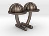 Hard Hat Cufflinks #1 3d printed