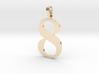8 Number Pendant 3d printed