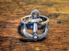Ahoy Ring (various sizes) 3d printed Silver Glossy (blackened)