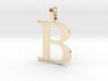 B Letter Pendant 3d printed