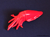 Cuttlefish 3d printed Gloss Red Porcelain