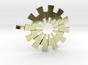 Sunburst Pendant - Printed Light in Fine Metals 3d printed