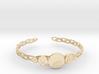 "Celtic Knot Pentacle Cuff Bracelet (2.5"" diameter) 3d printed"