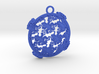 Reptile Pattern Pendant Interlocket BACK (requires 3d printed