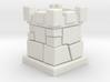 D6 Die Holder (Stone Tower) 3d printed