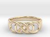 Double Infinity Ring 14.5mm Size3-0.5 3d printed