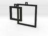 Square Earrings - Asymmetrical 3d printed