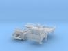 Vierer-Club-LKW Dreiseitenkipper mit Kran (N 1:160 3d printed