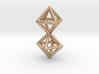 Twin Octahedron Frame Pendant 3d printed
