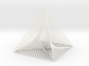 Small Square Pyramid Curve Stitching 3d printed