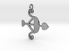 Cupid Bow Pendant - Amour Collection 3d printed
