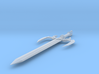 Fanged Broadsword 3d printed