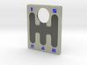 Pinball Plunger Plate - 5 Speed Gear Shift - Blue 3d printed