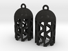 DRAW earrings - tubular waves type 4 3d printed