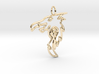Dragon Pendant 3d printed 14k Gold Plated