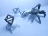 Faceted Twin Octahedron Frame Pendant Small 3d printed Epic duel.