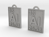 Aluminum Periodic Table Earrings 3d printed
