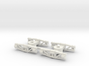 HOn30 pair of Sandy River archbar freight trucks 3d printed