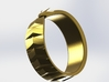 Ouroboros Signet Ring 3d printed Gold 2