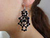 Amorphe Molecular Earrings - Chemistry Jewelry 3d printed Amorphe in black