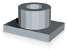 Headlight Adjuster Nut 3d printed