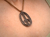Peace Connection 3d printed Polished Bronze Steel
