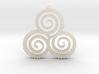 TriSwirl Pendant 3d printed