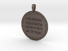 I AM SEEKING I AM STRIVING | Quote Necklace 3d printed