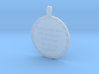 Many People Lose   Jewelry Quote Necklace. 3d printed