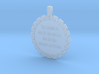 The Music Is Not In The | Jewelry Quote Necklace 3d printed