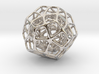 Double Dodecahedron Silver 3d printed