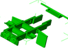 1/87th Log truck end frame 2 with details (2) 3d printed