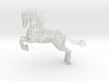 Rocinante horse sculpture - Customized 3d printed Rocinante horse sculpture in White Natural Versatile Plastic