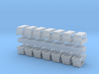 1:96 scale Standard Chock Sets - set of 12 3d printed