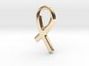 Awareness Ribbon Pendant/Charm - 16mm 3d printed